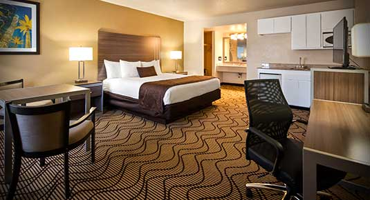 Single King bedroom - Welcome to Concord CA hotel